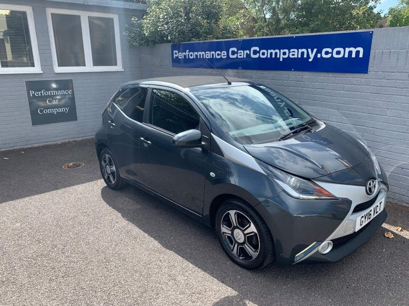 View TOYOTA AYGO VVT-I X-CLUSIV 2 Funroof 25900 miles FSH Leather Sat Nav Bluetooth R Camera