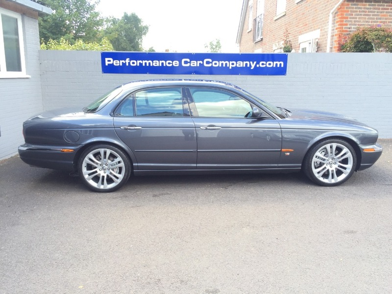 View JAGUAR XJ 4.2 V8 XJR Only 67000miles FSH Rear Entertainment Screens SAT NAV Glass Sunroof